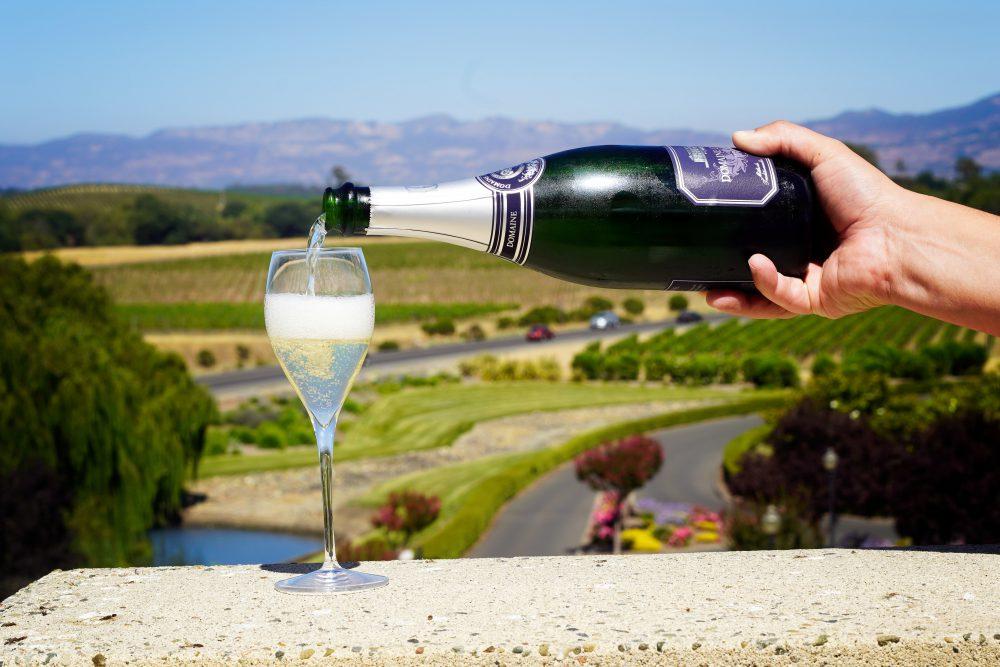 Domaine Carneros Sparkling wine view